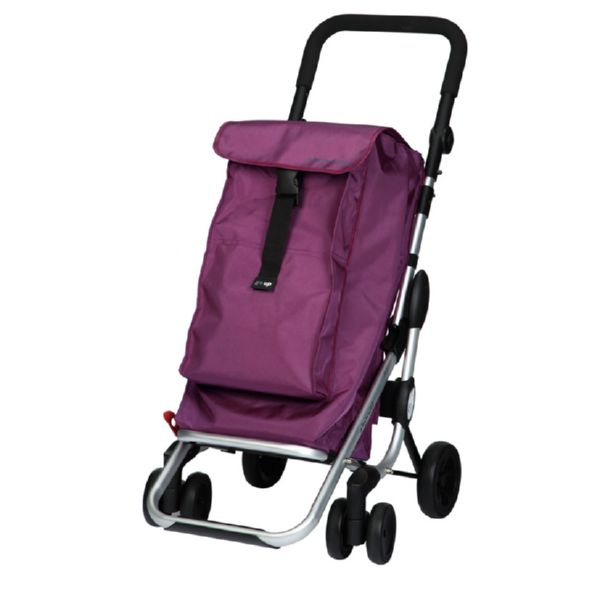 Carro compra plegable Go Up Plum Malva