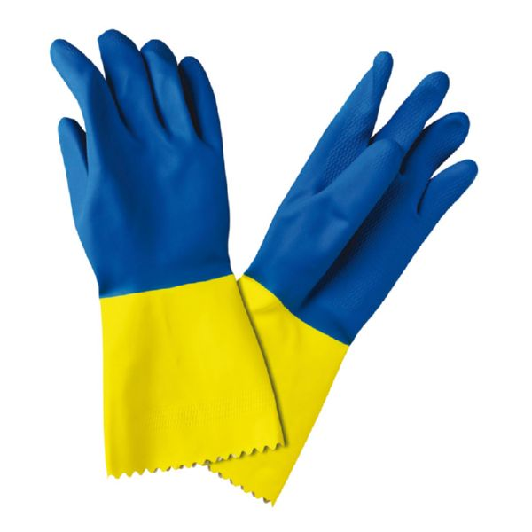 GUANTES ZAP FLOCADO DIAMANTE BICOLOR MED (7 7.5